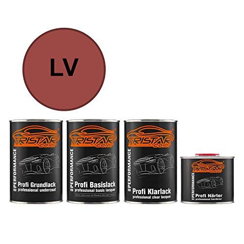 Autolack Set Dose spritzfertig für Lexus / Scion / Toyota LV Rose Red Metallic Grundlack + Basislack + 2K Klarlack 3,5L Lv Rosen