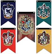 Harry Potter House Wall Banners Set - Complete Hogwarts House Wall Banner - Perfect Indoor Outdoor Party Flag
