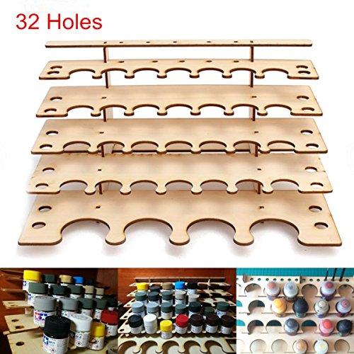 Caveen Farbständer 32 Töpfe Farbe Ständer Kunst Malerei Werkzeuge Zeichnung Schubladen Kosmetik Aufbewahrung Organizer (Kunst-schubladen)