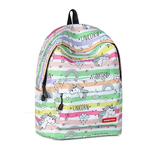 Monedero mochila para niñas,JOSEKO Mochila Preescolar Ligera Imprimir Bookbag Bolso femenino de la universidad