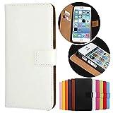 Roar Handy Hülle für HTC One M8, Handyhülle Weiß, Tasche Handytasche Schutzhülle, Kartenfach & Magnet-Verschluss