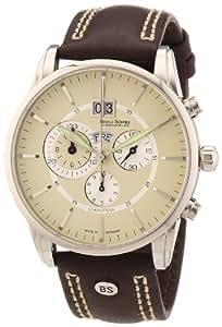 Bruno Söhnle Herrenuhr Chronograph Quarz mit Lederarmband – 17-13054-141