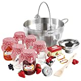 VonShef 9L Maslin Pan Induction Hob Suitable Jam Preserving Starter Set Bundle