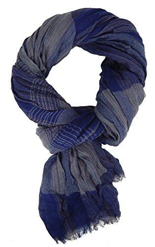Ella Jonte Weicher Herrenschal blau grau wärmend Herbst Winterschal Casual-Style