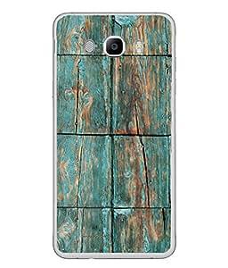 PrintVisa Designer Back Case Cover for Samsung Galaxy On8 Sm-J710Fn/Df (Old Wooden Plank In Blue Colour)