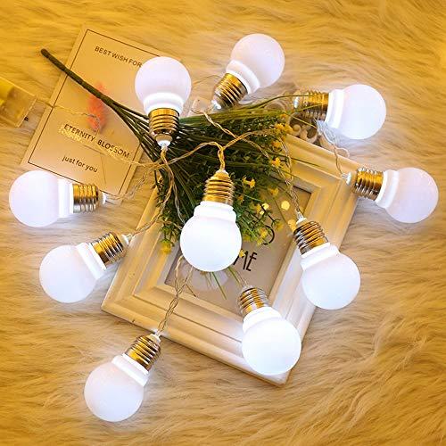 99native 1.5m10LEDString Licht Garten Pfad Yard Decor Outdoor Weihnachtsfest Lampe, Anwendbare Schlafzimmer/Zimmer / Foto/Urlaub / Hof/Shop oder Personalisierte DIY (Weiß)