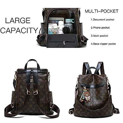 51bk800M4WL. SS416  - Mochila de las mujeres antirrobo impermeable mochila casual monedero de cuero de la PU bolsa de hombro de la escuela ligera