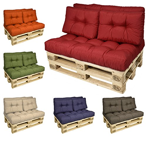 Beautissu set de cojines para pal s coj n de asiento y for Cojines sofa palets