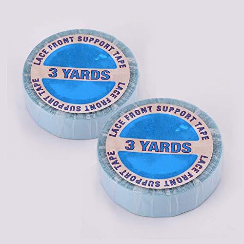 Hair Extension Tape, EXTRA STARK Doppelseitiges Klebeband Transparent, 6 Yards/2 Rolle Lace Front Support Tape Roll für Tape in Perücken und Zweithaar - Rollen Große Haar Extra