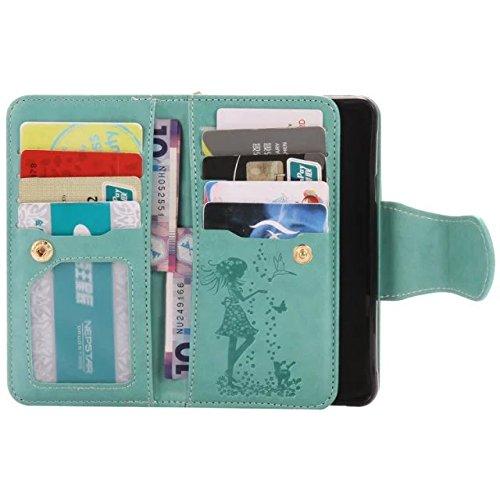 Wkae Case Cover Pressing Fleurs fille et chat en relief motif Flip Stand cas couvrir avec miroir miroir 9 Card Cash Slots pour Samsung A310 A3 (2016) ( Color : 9 , Size : Samsung A310 A3 (2016) ) 2
