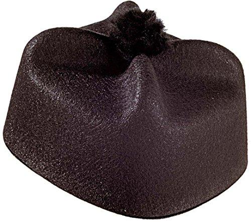 Kostüm Kopfbedeckung - Widmann Hut Parroco Filz Adulti, Schwarz, One Size, 1665P