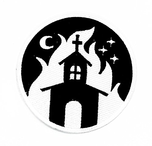 rabana die House braucht ein Fluch auf Halloween Nacht Cartoon Kids Kinder Cute Animal Patch für Heimwerker-Applikation Eisen auf Patch T Shirt Patch Sew Iron on gesticktes Badge Schild (Old Halloween Film School Kostüme)