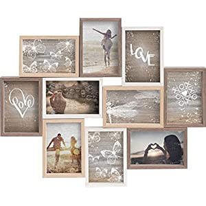 Gallery Solutions Collage Mixed Colours 10 Fotos à 10×15 cm, Außenformat: 56x45x2,5 cm