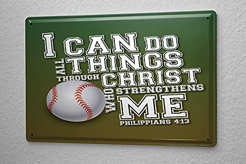 Retro Tin Sign Wall Decor Plate Baseball Sayings Metal Wall Plate 8X12