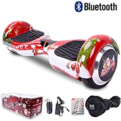 """Cool&Fun Hoverboard Patinete Eléctrico Scooter Talla 6.5"""" Bluetooth (C-Rojo)"""