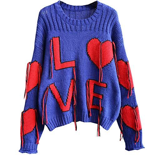 Lostryy Lose Persönlichkeit europäischen und amerikanischen Pullover/Pullover Sport Pullover/Mode Pullover/Hemd grundiert/Outdoor-Jacke Reisejacke, blau