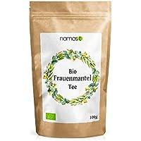 Frauenmanteltee BIO 100g - Frauenmantel in 100% biologischer Spitzenqualität - Loser Tee - Frauenmantelkraut (alchemilla vulgaris) abgefüllt und kontrolliert in Deutschland - von NamasT