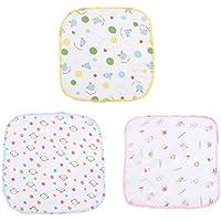 Cdet 3X Baberos densidad algodón de toalla de saliva de gasa Bebé frotar toalla baño toalla niños pañuelo