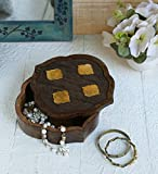 storeindya Sale Beautifully Hand Carved Wooden Keepsake Box Jewellery Chest Organiser Unique Gift Ideas for Men & Women