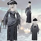Zombie-Piratin Kostüm Geisterpiratin S 36/38 Geisterschiff Piratenbraut Halloweenkostüm Seeräuberin Gothickostüm Freibeuterin Halloween Outfit Damen
