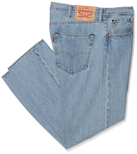 levi-strauss-co-501-original-fit-jeans-uomo-blu-light-brokenin-38-30uk