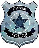 1art1 93780 Abzeichen - Dream Police Polizei-Marke Wand-Tattoo Aufkleber Poster-Sticker 60 x 50 cm