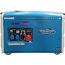 7,35 kW Diesel Generadores de corriente schallgedämmt Juego de ruedas M. electrógeno de