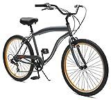 Critical Cycles Men's 2371 Bike, Graphite/Orange, 7-Speed/26-inch
