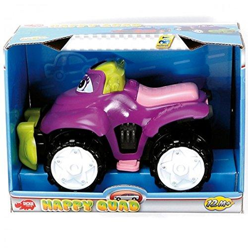 DICKIE Happy Quad Spielzeug Fahrzeug Baby ab 1 Jahr Jungs Mädchen Freilauf NEU, Farbe:Lila