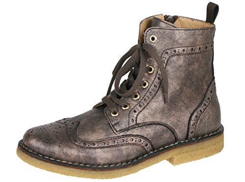 Zecchino d'oro f 16–4611 bottines fille avec motif budapest Marron - Metallic Bronze 2022
