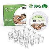 Dispositifs anti-ronflement 8 bouches d'aération pour le nez Snore Stopper Dilator nasal Soulagement de l'apnée du sommeil, congestion pour les voyages, les