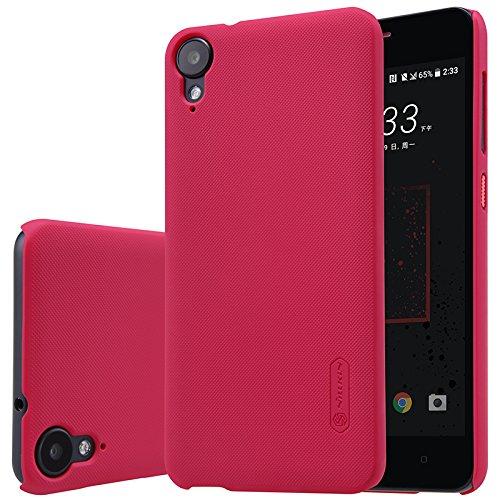 HTC Desire 10 LifeStyle Hülle, SMTR Premium Qualität Harte Schale Ultra Slim Schutzhülle +1 Film Displayschutzfolie für HTC Desire 10 LifeStyle Smartphone,(Rote)