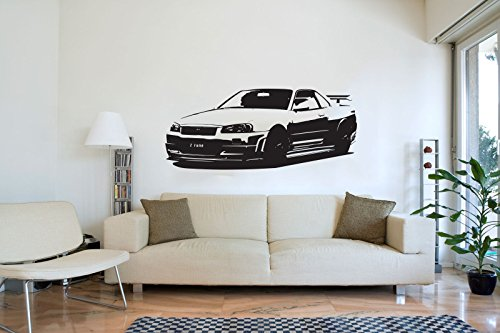 xl-large-car-nissan-gtr-34-bedroom-free-squeegee-wall-art-decal-sticker