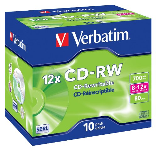 VERBATIM CD-RW 700MB 8-12X HI SPEED PK10 Test