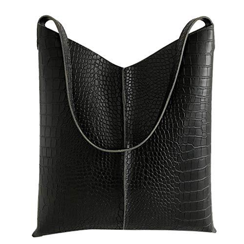 Produp Fashion Damen Handtasche Leder einfarbig Krokodilmuster vielseitig Umhängetasche + Geldbörse - Louis Vuitton Canvas Rucksack