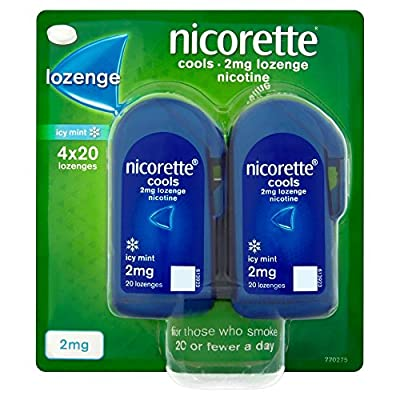 Nicorette 2 mg Cools Lozenge - Pack of 80 Lozenges from Johnson & Johnson