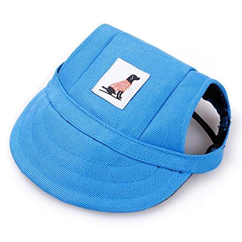 Hundehut Pet Baseball Cap Dogs Sport Hat Schirmmütze mit Ohrlöchern und Kinnriemen für Hunde und Katzen