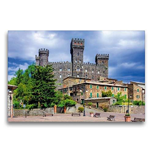 Premium Textil-Leinwand 75 x 50 cm Quer-Format Castello di Torre Alfina | Wandbild, HD-Bild auf Keilrahmen, Fertigbild auf hochwertigem Vlies, Leinwanddruck von LianeM