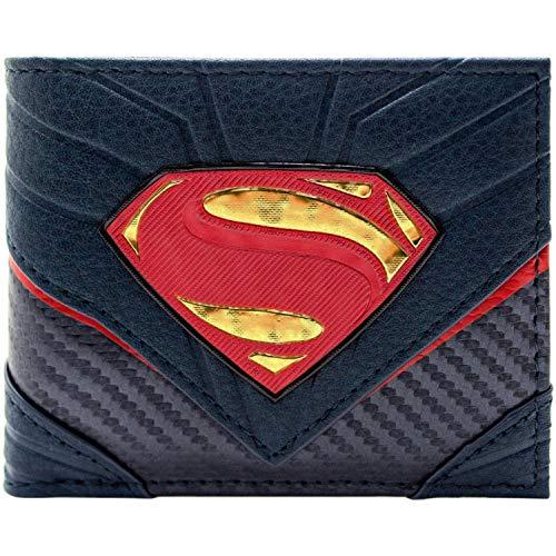 DC Superman Carbon Heldenanzug Schwarz Portemonnaie ()