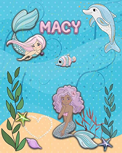 Handwriting Practice 120 Page Mermaid Pals Book Macy: Primary Grades Handwriting Book K-2