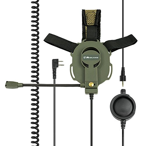 Midland Bow M-Tactical Casque Audio avec Micro-Tige/PTT Tactique G5/G6/G7/G8/G9
