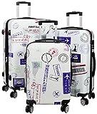Kofferset Gepäckset Polycarbonat ABS Hartschalen Koffer 3tlg. Set Trolley Reisekoffer Reisetrolley Handgepäck Boardcase PM (Flugreise)