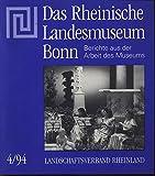 Neues altes Glas Mittelalterliche Glasschalen aus Mainz, in: DAS RHEINISCHE LANDESMUSEUM, 4/1994.