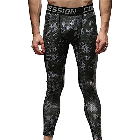Cody Lundin® Nueva llegada Primavera verano compresión Fitness hombres pantalones, Camo deportes pantalones apretado los hombres de camuflaje