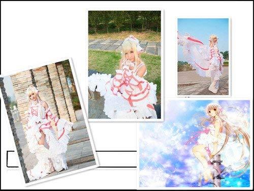 Sunkee Chobits Cosplay Chi Kostüm Gothic Lolita Weiß Rosa Kleid, Größe XL ( Alle Größe Sind Wie Beschreibung Gesagt, überprüfen Sie Bitte Die Größentabelle Vor Der Bestellung )
