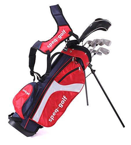 Speq - Mezzo set di mazze da golf per bambini con borsa, colore: Bronzo, Rosso (Rosso-Navy-Bianco), 1,45-1,60 m