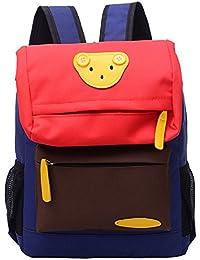 Preisvergleich für PENGYUE Kinderrucksack Kindergartenrucksack Kinder Rucksack Bestickt mit Bär Avatar Lässig Niedlicher Karikatur...
