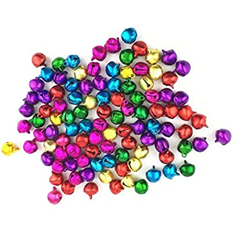 westeng 100pcs Multicolore Craft Kit e forniture di Natale Jingle Bells/campana/campana/Mini Tinkle Campana -10 mm