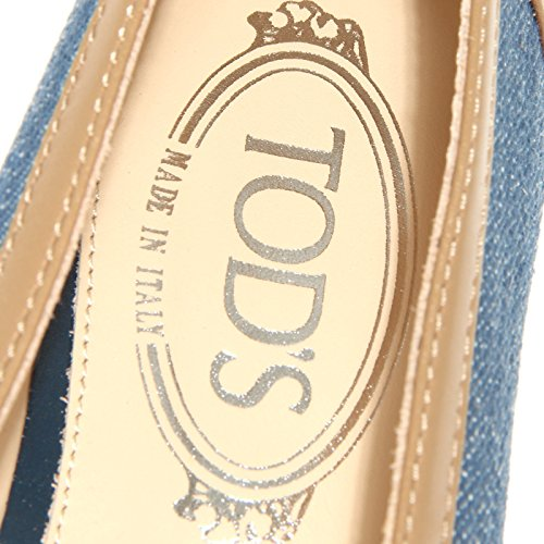 15641 mocassini donna TOD'S scarpa scarpe mocassino loafers shoes women Blu/Marrone