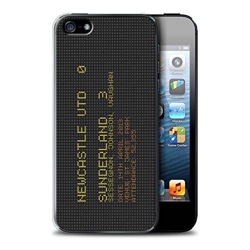 Offiziell Sunderland AFC Hülle / Case für Apple iPhone SE / Pack 6pcs Muster / SAFC Berühmte Fußball Ergebnis Kollektion 2013